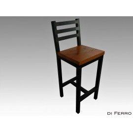 Hoker - krzesło barowe z oparciem